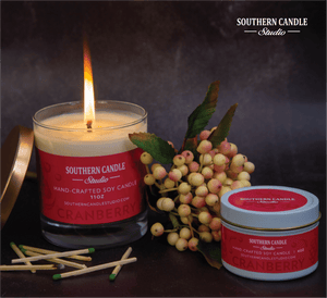 Cranberry Soy Wax Candle 11 oz. - Southern Candle Studio