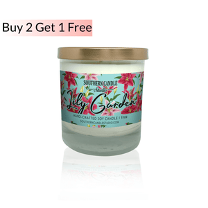 Lily Garden Soy Wax Candle 11 oz. - Southern Candle Studio