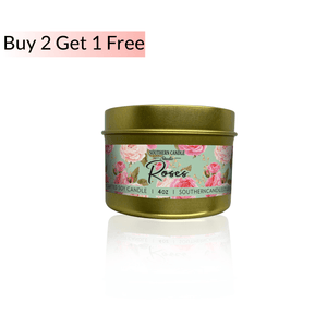 Roses Soy Wax Candle 4 oz. - Southern Candle Studio