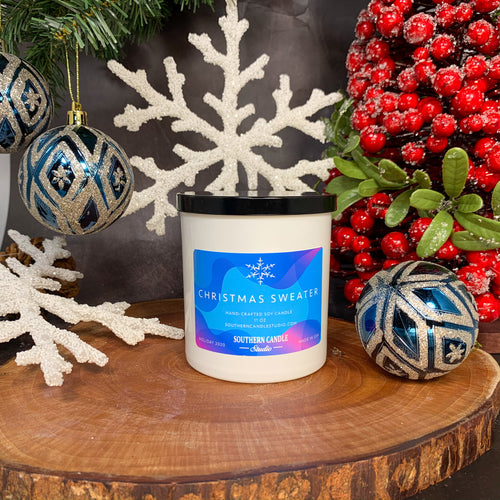 Christmas Sweater Soy Wax Candle 11 oz.