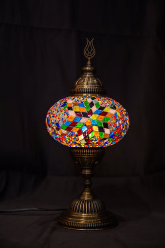 Large Mosaic Lamp-Multicolor - Southern Candle Studio