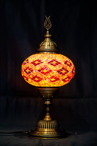 Large Mosaic Lamp- Red - Southern Candle Studio