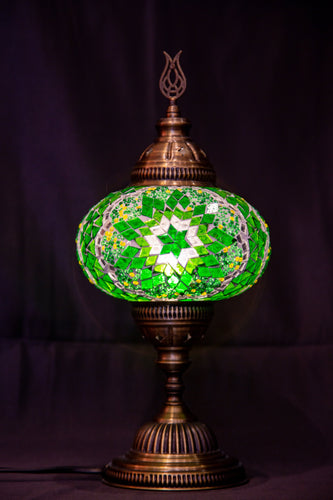 Large Mosaic Lamp- Green - Southern Candle Studio