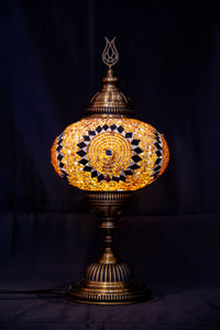 Large Mosaic Lamp-  Brown - Southern Candle Studio