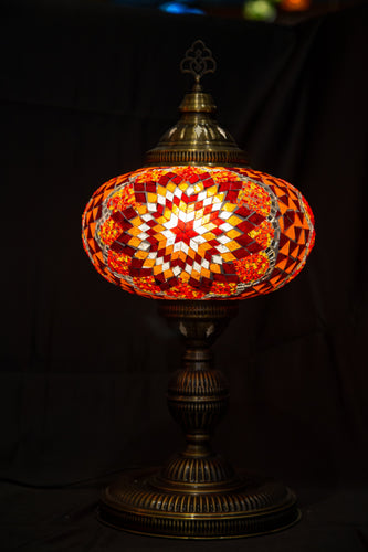 Premium Mosaic Lamp-Red 2 - Southern Candle Studio