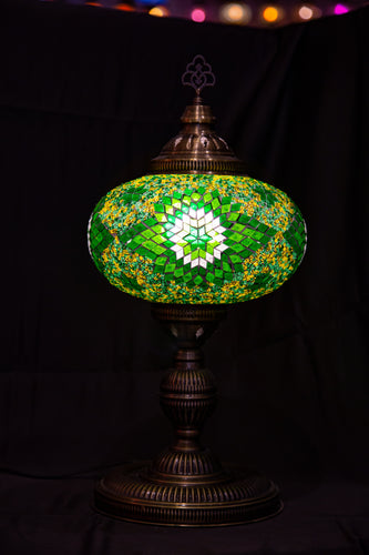 Premium Mosaic Lamp-Green 2 - Southern Candle Studio