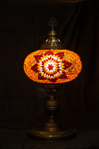 Premium Mosaic Lamp-Red 1 - Southern Candle Studio