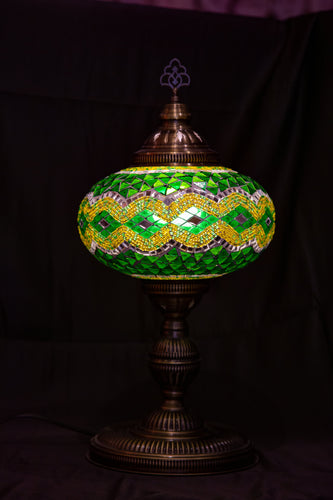 Premium Mosaic Lamp-Green - Southern Candle Studio