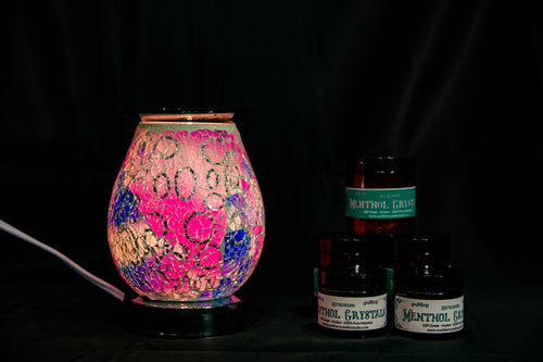 Fragrance Warmer Mosaic Lamps-Oval Pink - Southern Candle Studio