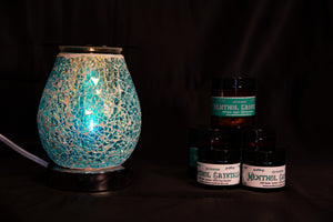 Fragrance Warmer Mosaic Lamps-Oval Blue - Southern Candle Studio