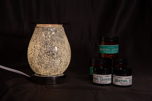 Fragrance Warmer Mosaic Lamps-Oval White - Southern Candle Studio
