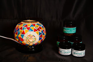 Fragrance Warmer Mosaic Lamps-Multicolor - Southern Candle Studio