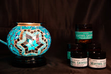 Load image into Gallery viewer, Fragrance Warmer Mosaic Lamps-Blue - Southern Candle Studio