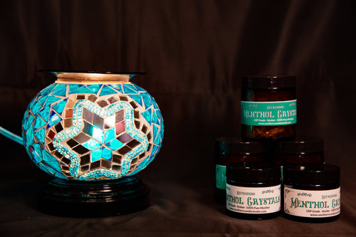 Fragrance Warmer Mosaic Lamps-Blue - Southern Candle Studio