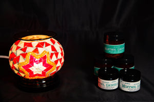 Fragrance Warmer Mosaic Lamps-Red - Southern Candle Studio