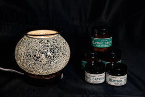 Fragrance Warmer Mosaic Lamps-White - Southern Candle Studio