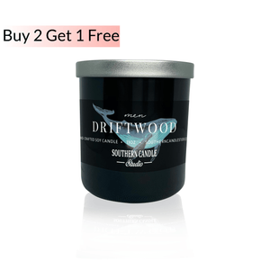 Driftwood Soy Wax Candle 11 oz. - Southern Candle Studio