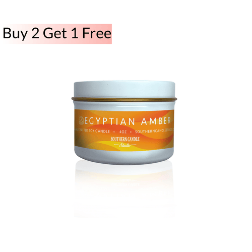 Egyptian Amber Soy Wax Candle 4 oz. - Southern Candle Studio