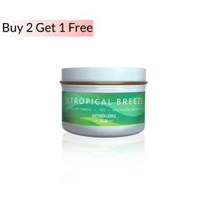 Tropical Breeze Soy Wax Candle 4 oz. - Southern Candle Studio