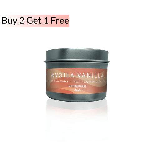 Voila Vanilla Soy Wax Candle 4 oz. - Southern Candle Studio