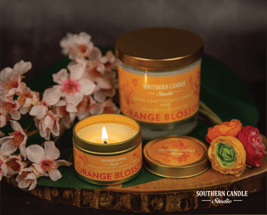 Orange Blossom Soy Wax Candle 4 oz. - Southern Candle Studio