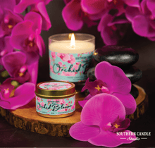 Load image into Gallery viewer, Orchid Blossom Soy Wax Candle 4 oz. - Southern Candle Studio