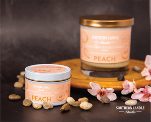 Peach Soy Wax Candle 4 oz. - Southern Candle Studio