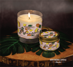 Pineapple Soy Wax Candle 11 oz. - Southern Candle Studio