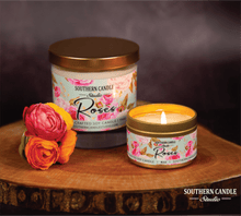 Load image into Gallery viewer, Roses Soy Wax Candle 4 oz. - Southern Candle Studio