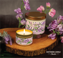 Load image into Gallery viewer, Violets Soy Wax Candle 11 oz. - Southern Candle Studio