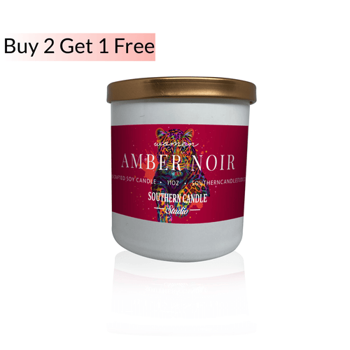 Amber Noir Soy Wax Candle 11 oz. - Southern Candle Studio