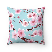 Load image into Gallery viewer, Japanese Cherry Blossom Square Pillow - Southern Candle Studio