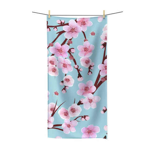 Japanese Cherry Blossom Polycotton Towel - Southern Candle Studio