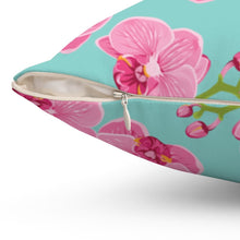 Load image into Gallery viewer, Orchid Blossom Square Pillow - Southern Candle Studio