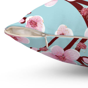 Japanese Cherry Blossom Square Pillow - Southern Candle Studio
