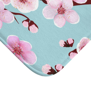 Japanese Cherry Blossom Bath Mat - Southern Candle Studio