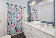 Load image into Gallery viewer, Japanese Cherry Blossom Shower Curtains - Southern Candle Studio