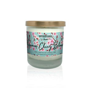 Japanese Cherry Blossom Soy Wax Candle 11 oz. - Southern Candle Studio