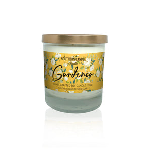 Gardenia Soy Wax Candle 11 oz. - Southern Candle Studio