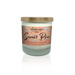 Sweet Pea Soy Wax Candle 11 oz. - Southern Candle Studio