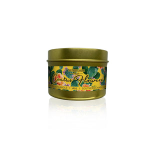 Cactus Flowers Soy Wax Candle 4 oz. - Southern Candle Studio