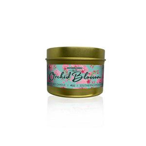 Orchid Blossom Soy Wax Candle 4 oz. - Southern Candle Studio