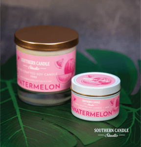 Watermelon Soy Wax Candle 11 oz. - Southern Candle Studio
