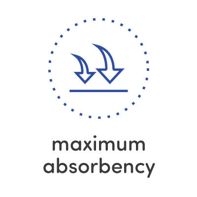 Maximum absorbency towels