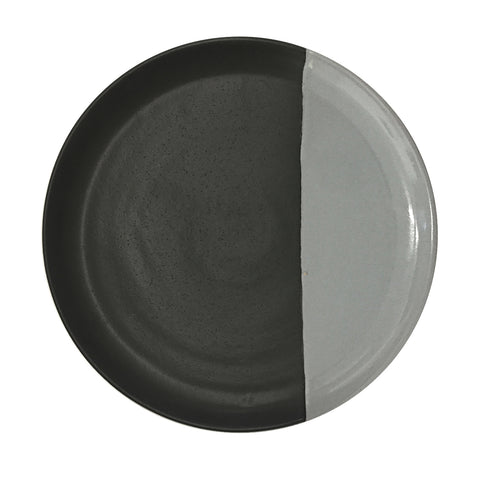 large plate - matt black/grey