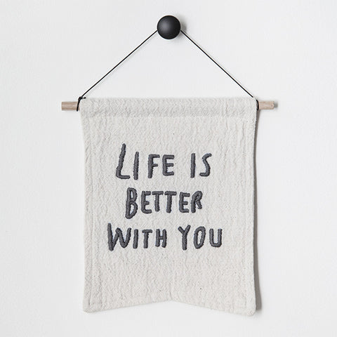 'life is better with you' bianca cash flag