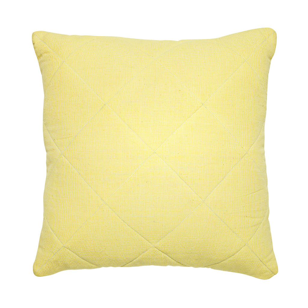 yellow khadi quilted