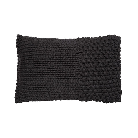 contrast knit black