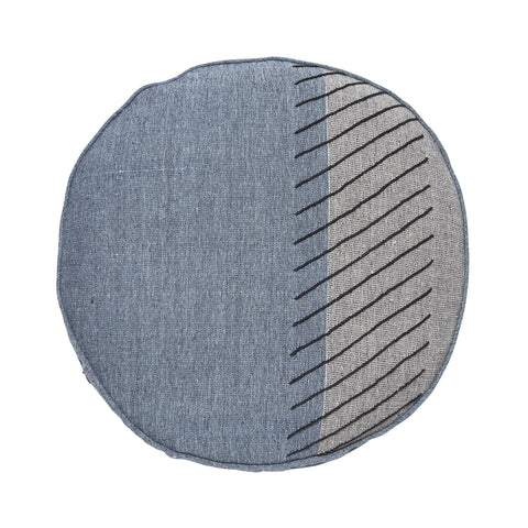 denim/grey block round