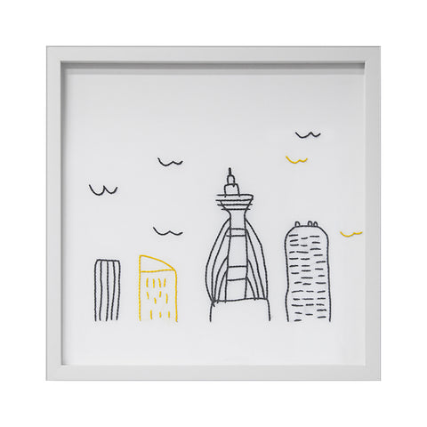 Embroidered City Artwork